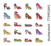 woman shoes vector girls... | Shutterstock .eps vector #773901841