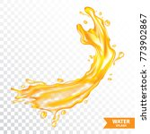 orange water   juice splash... | Shutterstock .eps vector #773902867