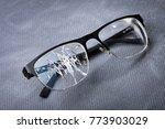 broken glasses on a metal... | Shutterstock . vector #773903029