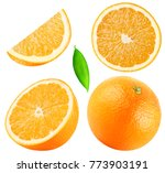 Isolated Oranges. Collection Of ...