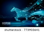 bolting horse in plexus style ... | Shutterstock .eps vector #773903641