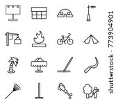 thin line icon set   billboard  ... | Shutterstock .eps vector #773904901