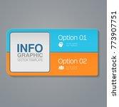 vector infographic template for ... | Shutterstock .eps vector #773907751