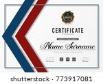 certificate template luxury and ... | Shutterstock .eps vector #773917081