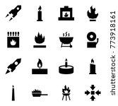 origami style icon set   rocket ... | Shutterstock .eps vector #773918161