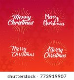 merry christmas. calligraphy... | Shutterstock .eps vector #773919907