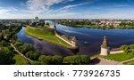 aerial panorama view of pskov... | Shutterstock . vector #773926735