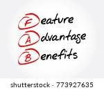 fab   feature advantage... | Shutterstock .eps vector #773927635