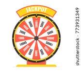 fortune wheel in flat style.... | Shutterstock .eps vector #773931349