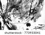 black and white abstract... | Shutterstock . vector #773933041
