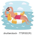 vector cartoon funny... | Shutterstock .eps vector #773933191