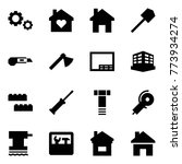 origami style icon set   gears... | Shutterstock .eps vector #773934274