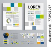 business brochure template... | Shutterstock .eps vector #773935087