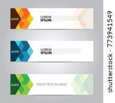 banner template vector | Shutterstock .eps vector #773941549