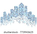 modern city skyline vector... | Shutterstock .eps vector #773943625