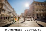crowd of anonymous people... | Shutterstock . vector #773943769