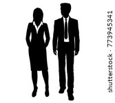vector silhouettes of man and... | Shutterstock .eps vector #773945341