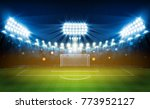football arena field with... | Shutterstock .eps vector #773952127