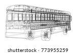 school bus outline vector.... | Shutterstock .eps vector #773955259