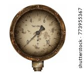 manometer. the steam or water... | Shutterstock .eps vector #773955367