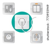 set of light on off switches ... | Shutterstock .eps vector #773955949