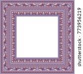 vector abstract ornamental... | Shutterstock .eps vector #773956219