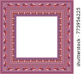 vector abstract ornamental... | Shutterstock .eps vector #773956225