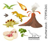 age of dinosaurs banner with... | Shutterstock .eps vector #773956261