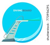 diving board or springboard... | Shutterstock .eps vector #773956291