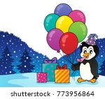 party penguin topic image 2  ...   Shutterstock .eps vector #773956864