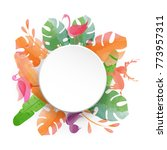 watercolor colorful tropical... | Shutterstock .eps vector #773957311