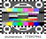 no signal tv test pattern... | Shutterstock .eps vector #773957941