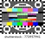 no signal tv test pattern... | Shutterstock .eps vector #773957941