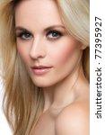 Beautiful Blond Woman Face...