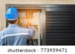 engineer is checking the... | Shutterstock . vector #773959471