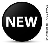 new isolated on black round... | Shutterstock . vector #773959921