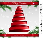 christmas card with tree from... | Shutterstock .eps vector #773960374