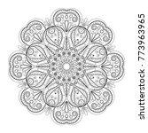 flower mandala. vintage... | Shutterstock .eps vector #773963965