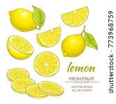 lemon vector set | Shutterstock .eps vector #773968759