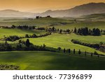 Green Tuscany Landscape In...