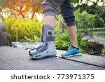 female patients wear shoes...   Shutterstock . vector #773971375