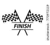 race flag vector icon  simple... | Shutterstock .eps vector #773972119
