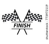 race flag vector icon  simple... | Shutterstock .eps vector #773972119