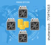 mining crypto currency bitcoin... | Shutterstock .eps vector #773974315