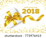 happy new year 2018.decorative... | Shutterstock .eps vector #773976415