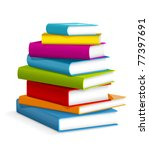 books stack   vector... | Shutterstock .eps vector #77397691