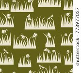 floral seamless pattern ... | Shutterstock .eps vector #773977027