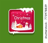 christmas web button with...   Shutterstock .eps vector #773978839
