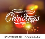merry christmas typography... | Shutterstock .eps vector #773982169
