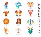zodiac signs vector astrology... | Shutterstock .eps vector #773983027